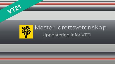 Miniatyr för mediepost IAIV2 Masterprogram uppdatering VT21