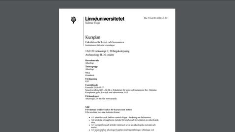 Thumbnail for entry Måluppfyllelse i kursplan