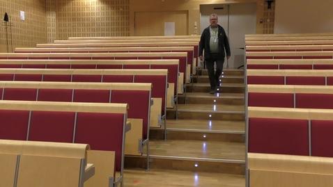 Miniatyr för mediepost Using Zoom in an assembly hall (Zoom bridge)