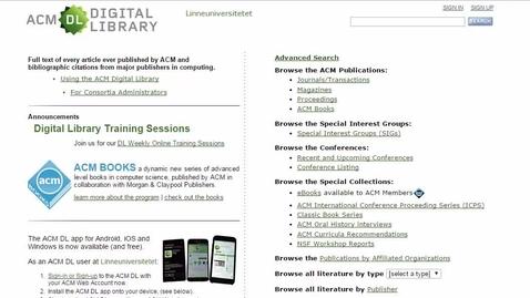 Miniatyr för mediepost ACM simple search