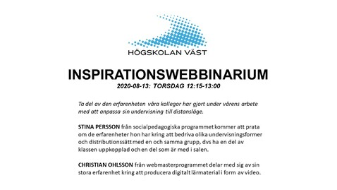 Thumbnail for entry IMS-webbinarium: Stina Persson och Christian Ohlsson, 2020-08-13