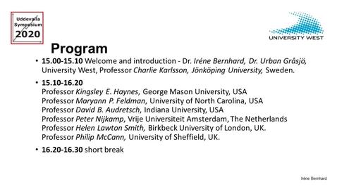 Thumbnail for entry Kingsley Haynes - Uddevalla Symposium 2020