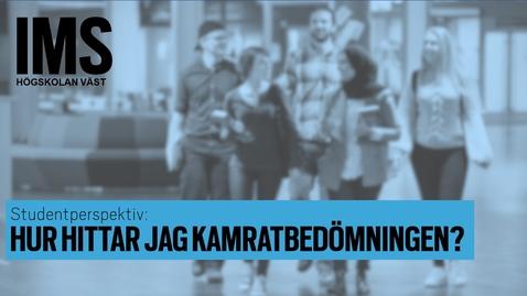 Thumbnail for entry Studentperspektiv: Hur hittar jag kamratbedömningen?/How do I find the peer review assessment?