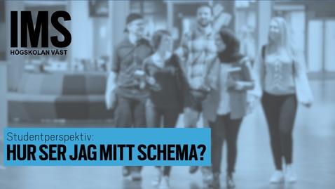 Thumbnail for entry Studentperspektiv: Hur ser jag mitt schema?/How do I find my schedule?