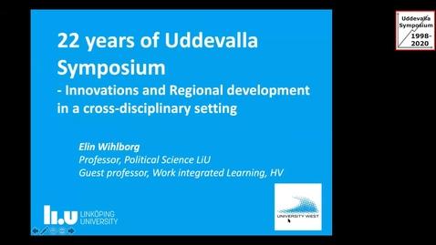 Thumbnail for entry Elin Wihlborg - Uddevalla Symposium 2020