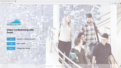 Thumbnail for entry Studentperspektiv: skapa e-möte i Zoom på webben