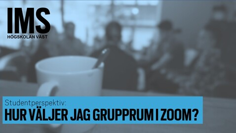 Thumbnail for entry Hur väljer jag grupprum i ett e-möte i Zoom?/How do I choose breakout room in a Zoom meeting?