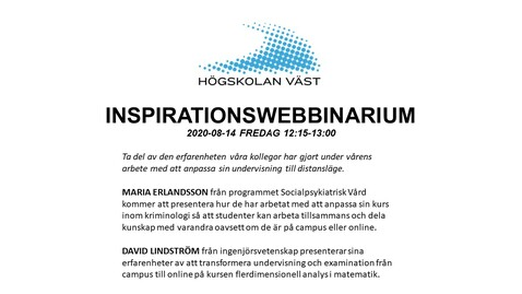 Thumbnail for entry IMS-webbinarium: Maria Erlandsson och David Lindström, 2020-08-14