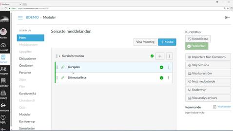 Thumbnail for entry Skapa moduler