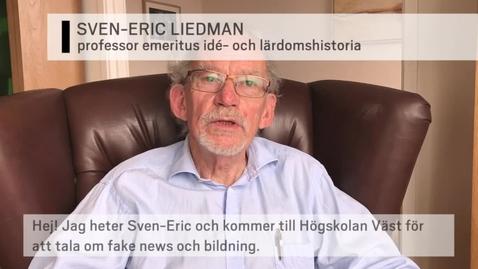 Thumbnail for entry Föreläsning med Sven-Eric Liedman 26 sep