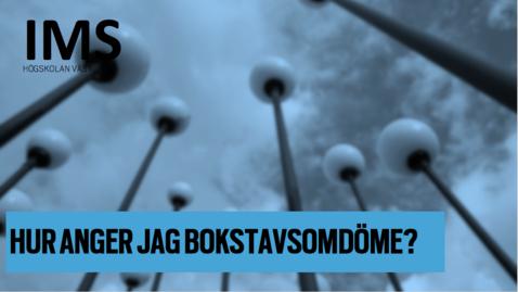 Thumbnail for entry Hur anger jag bokstavsomdöme?/ How do I assign letter grade?