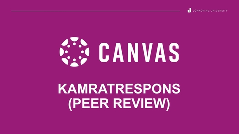 Thumbnail for entry Kamratrespons (Peer review)