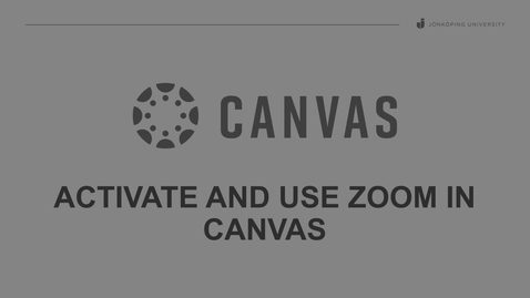 Thumbnail for entry Activate and use Zoom in Canvas