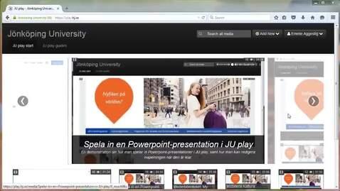 Thumbnail for entry Skapa spellistor i JU play