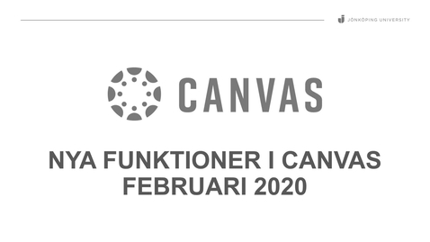 Thumbnail for entry Canvas uppdatering februari 2020