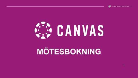 Thumbnail for entry Boka möten för studenter i Canvas