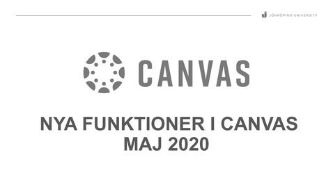 Thumbnail for entry Nya funktioner i Canvas (Maj 2020)