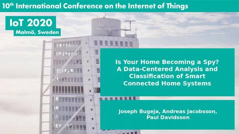 Thumbnail for entry Is Your Home Becoming a Spy? A Data-Centered Analysis and Classification of Smart Connected Home Systems