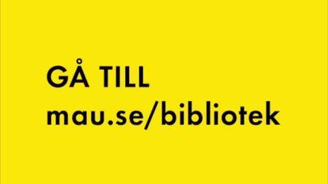 Thumbnail for entry Att söka böcker