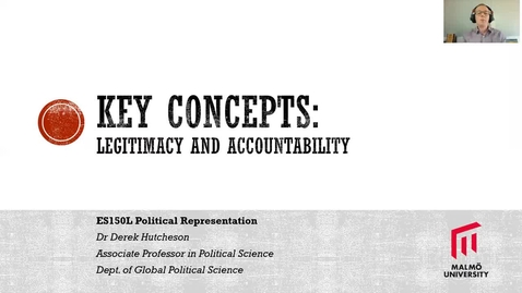 Thumbnail for entry ES150L Concepts lecture - legitimacy and accountability