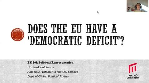 Thumbnail for entry ES150L - The European Union's 'Democratic Deficit'?