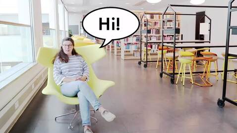 Thumbnail for entry Hi new student! Welcome to the University Library