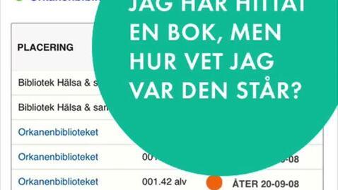 Thumbnail for entry Hitta till rätt hylla