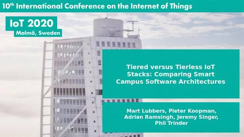 Thumbnail for entry Tiered versus Tierless IoT Stacks: Comparing Smart Campus Software Architectures