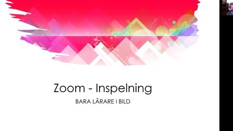 Thumbnail for entry Dölj deltagare vid inspelning i Zoom