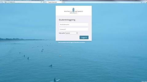 Thumbnail for entry Studentguide Inspera inlogg och SEB