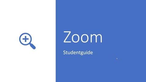 Thumbnail for entry Zoom Studentguide