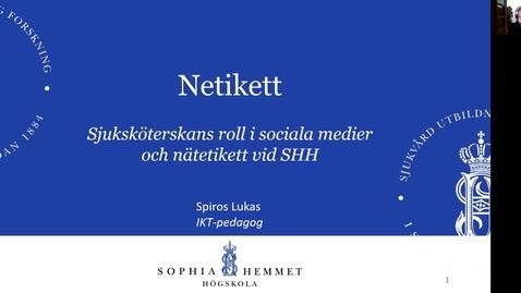 Thumbnail for entry Netikett och sjuksköterskans roll i sociala medier