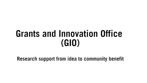 Miniatyr för inlägg Grants an Innovation Office (GIO)_ENG