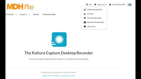 Miniatyr för inlägg Kaltura Capture recording