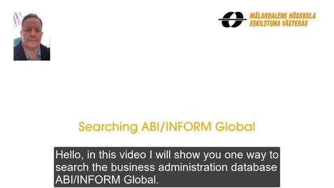 Miniatyr för inlägg Searching ABI-INFORM Global