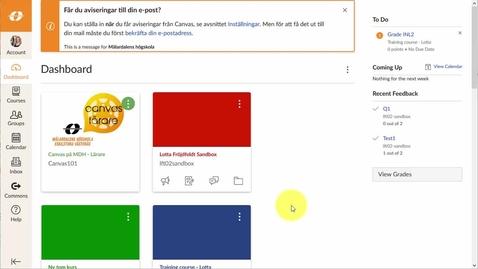 Miniatyr för inlägg Intro till Canvas 10 min - Student