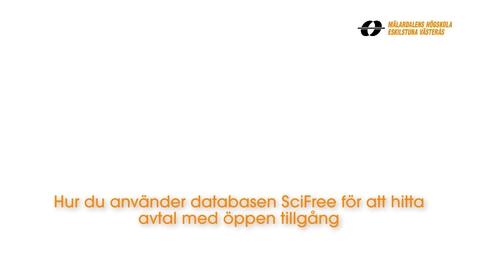 Miniatyr för inlägg Hur du använder databasen SciFree för att hitta avtal med öppen tillgång