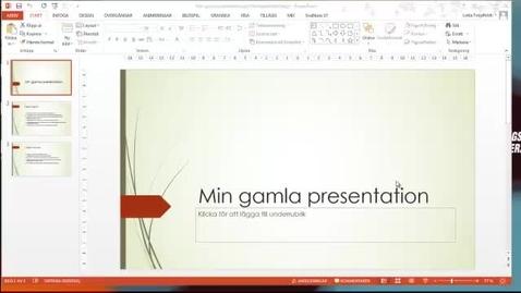 Miniatyr för inlägg Skapa ny powerpoint från en gammal