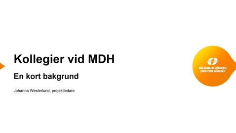 Miniatyr för inlägg Kollegier vid MDH