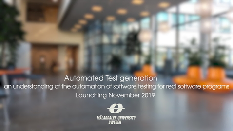 Miniatyr för inlägg Automated Test generation