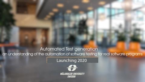 Miniatyr för inlägg Automated Test Generation