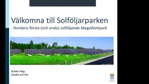 Miniatyr för inlägg ERA115 VT2021 Studiebesök MW-parken Västerås