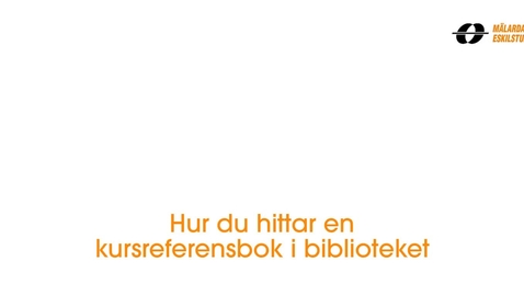 Miniatyr för inlägg Hur du hittar en kursreferensbok i biblioteket