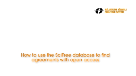 Miniatyr för inlägg How to use the SciFree database to find agreements with open access