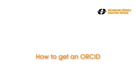 Miniatyr för inlägg How to get an ORCID