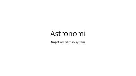 Miniatyr för inlägg Bildspel solsystemet med ljud