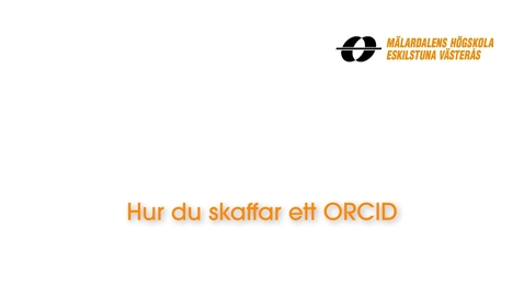 Miniatyr för inlägg Hur du skaffar ett ORCID