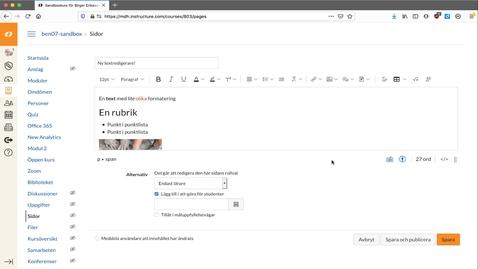 Miniatyr för inlägg Intro till textredigeraren i Canvas