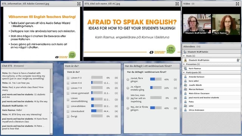 Miniatyr för inlägg Afraid to speak English? Ideas for how to get your students talking.