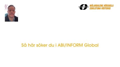 Miniatyr för inlägg Så här söker du i ABI/INFORM Global